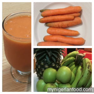 Carrots in Fruits Smoothie