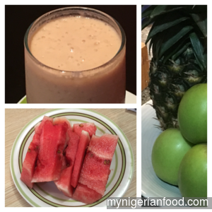 Watermelon in Fruity Smoothie