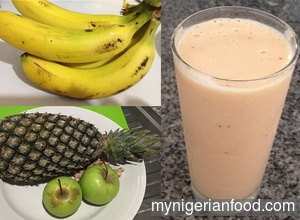 Pineapple, Apples and Banana Smoothie